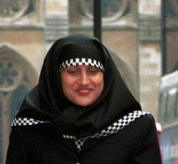 Hijab-clad police officer, London