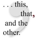 Saturday Sidetrack: Dead Commas, now?