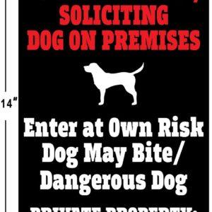 Dog on Premises Security Sign